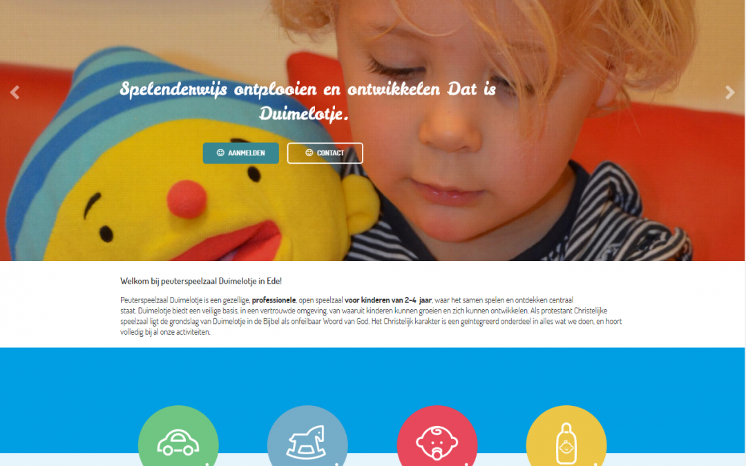 Website en huisstijl update – Peuterspeelzaal Duimelotje